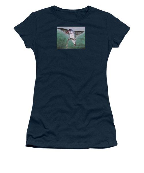 Hummingbird Women's T-Shirt (Junior Cut) by Kume Bryant