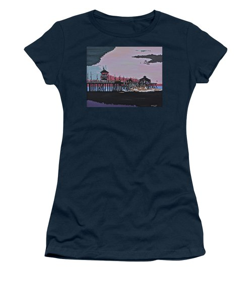 Huntington Beach Pier 1 Women's T-Shirt (Athletic Fit)