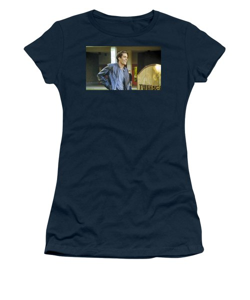 Women's T-Shirt (Junior Cut) featuring the painting I Love You Babe by Luis Ludzska