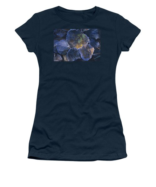 Icy Leaves Women's T-Shirt (Athletic Fit)
