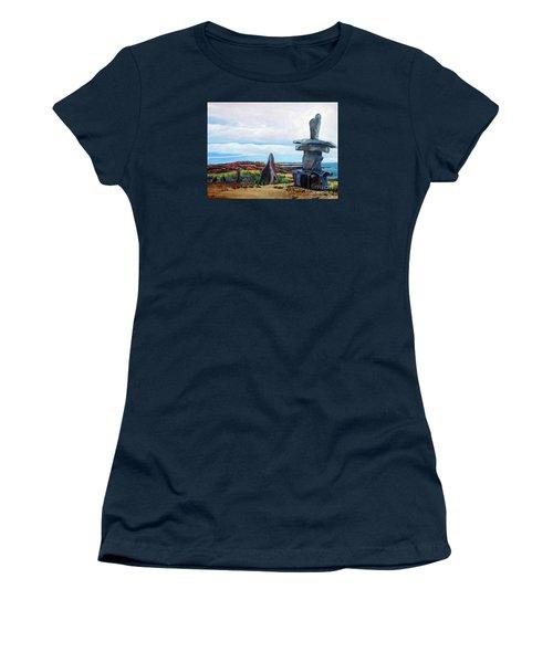 Inukshuk Women's T-Shirt (Junior Cut) by Marilyn  McNish