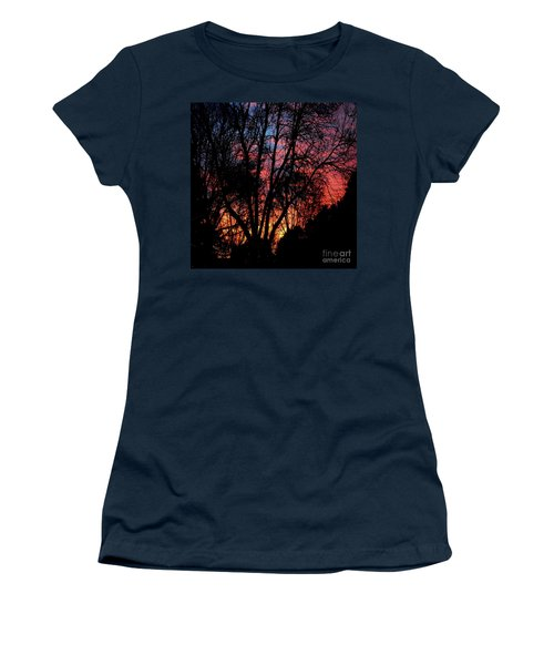 Women's T-Shirt (Junior Cut) featuring the photograph January Dawn by Luther Fine Art