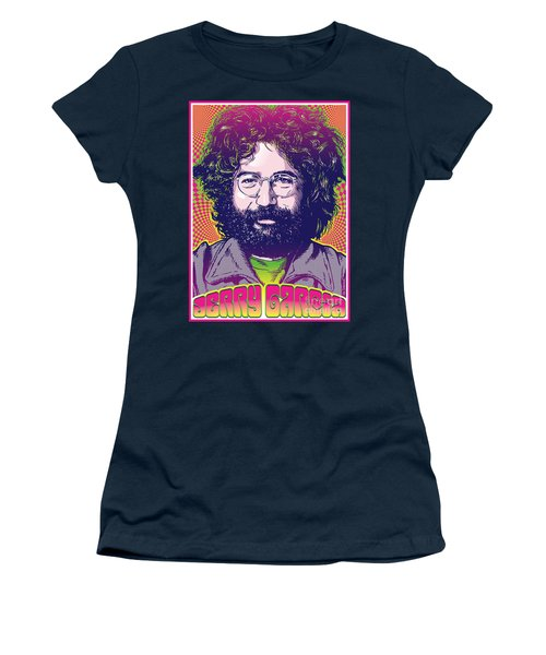 Jerry Garcia Pop Art Women's T-Shirt (Athletic Fit)