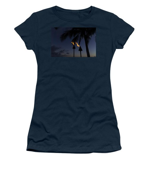 Just After Sunset The Beach Party Is Starting Women's T-Shirt