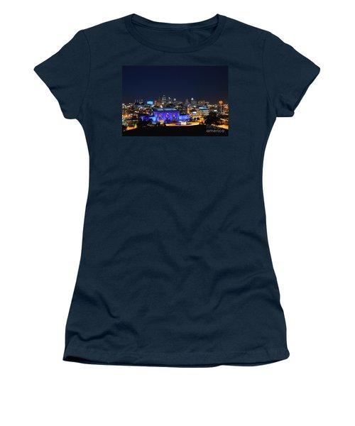 Kansas City Union Station In Blue  Women's T-Shirt
