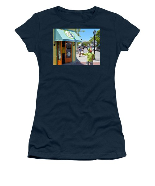 Key Lime Pie Man In Key West Women's T-Shirt (Junior Cut) by Janette Boyd