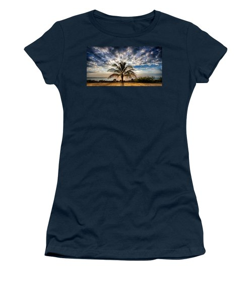 Key West Florida Lone Palm Tree  Women's T-Shirt