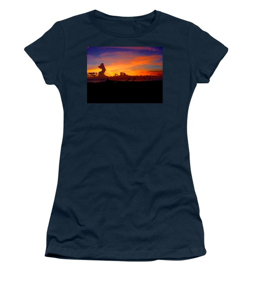 Key West Sun Set Women's T-Shirt (Junior Cut) by Iconic Images Art Gallery David Pucciarelli