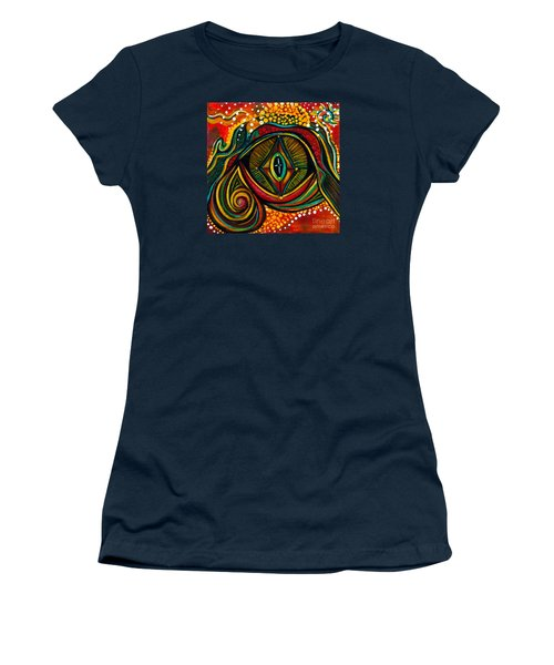 Women's T-Shirt (Junior Cut) featuring the painting Kindness Spirit Eye by Deborha Kerr