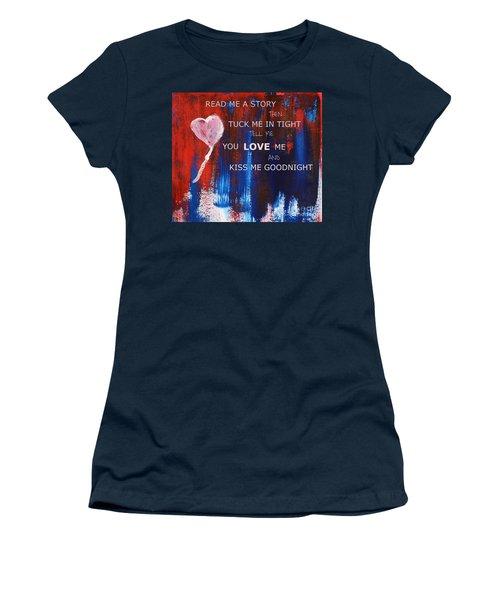 Kiss Me Goodnight Women's T-Shirt (Junior Cut) by Andrea Anderegg