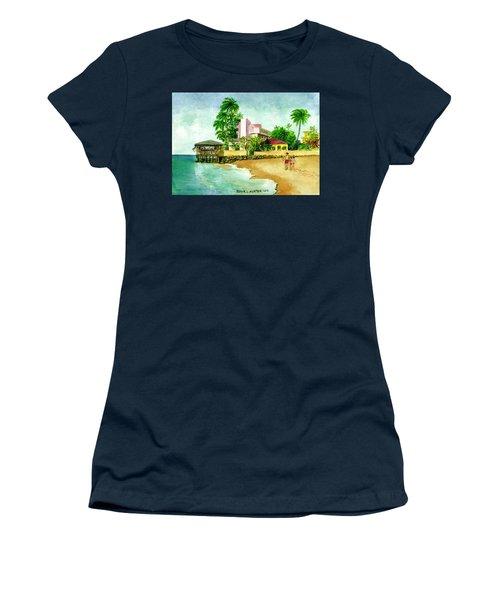 La Playa Hotel Isla Verde Puerto Rico Women's T-Shirt (Junior Cut) by Frank Hunter