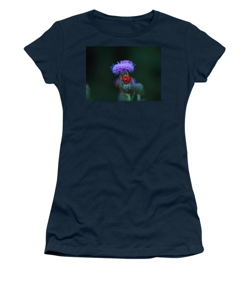 Ladybug Women's T-Shirt (Junior Cut) by Jeff Swan