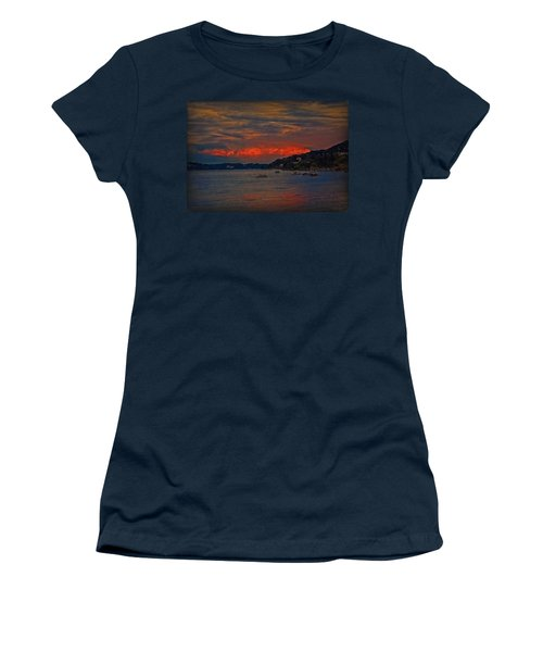 Women's T-Shirt (Junior Cut) featuring the photograph Lago Maggiore by Hanny Heim