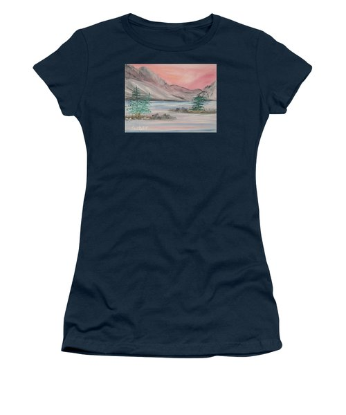 Lake Sunset Women's T-Shirt (Athletic Fit)