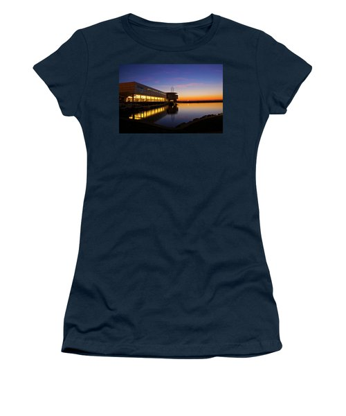Women's T-Shirt (Junior Cut) featuring the photograph Lakefront Sunrise by Jonah  Anderson