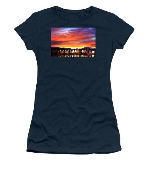 Lakeside Reflections Women's T-Shirt (Junior Cut) by Nick Gustafson