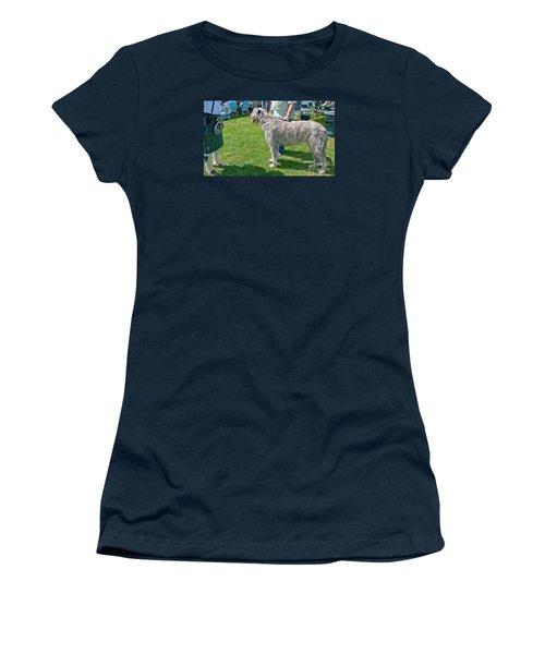 Large Irish Wolfhound Dog  Women's T-Shirt (Junior Cut) by Valerie Garner
