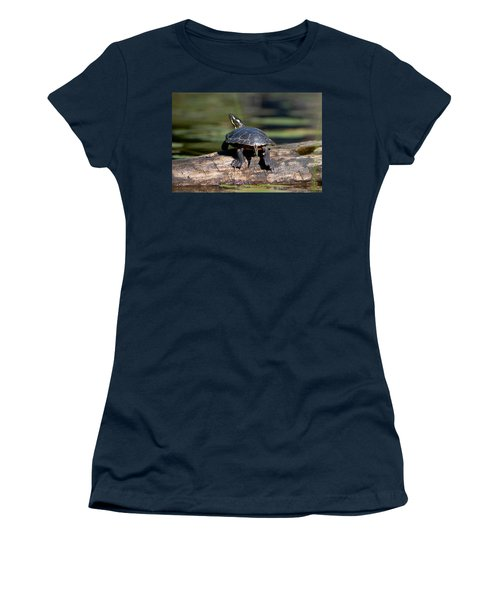 Lazy Day On A Log 6241 Women's T-Shirt