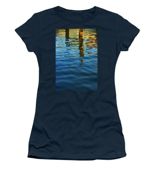 Light Reflections On The Water By A Dock At Aransas Pass Women's T-Shirt
