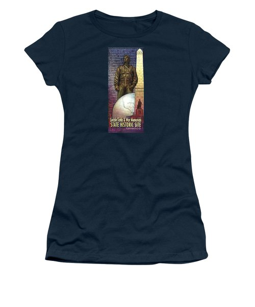 Women's T-Shirt (Junior Cut) featuring the painting Lincoln Tomb And War Memorials Street Banners Korean War Pilot by Jane Bucci