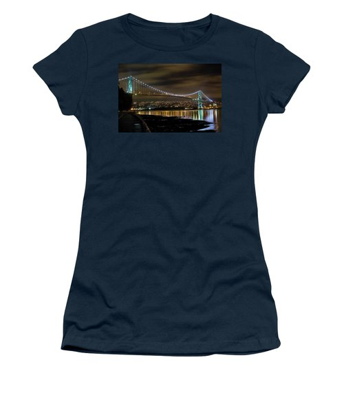 Lions Gate Bridge At Night Women's T-Shirt (Athletic Fit)