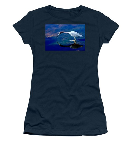 Little Blue Heron Fishing Women's T-Shirt
