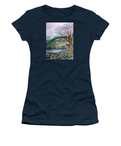 Loch Ard Stirling Overlooking Loch A'ghleannain Women's T-Shirt (Athletic Fit)