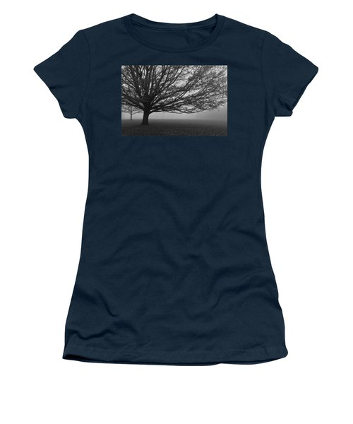 Women's T-Shirt (Junior Cut) featuring the photograph Lonely Low Tree by Maj Seda