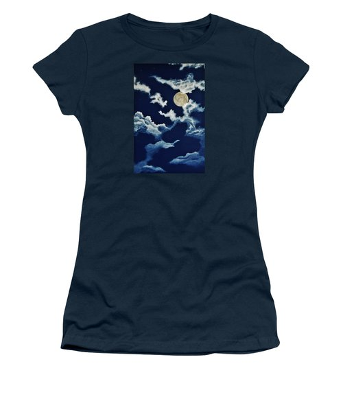 Look At The Moon Women's T-Shirt (Athletic Fit)