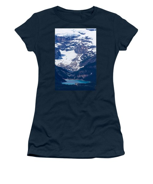 Looking Down At Lake Louise #2 Women's T-Shirt (Athletic Fit)