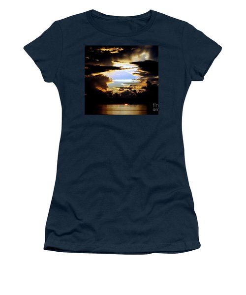 Louisiana Sunset Blue In The Gulf  Of Mexico Women's T-Shirt (Junior Cut) by Michael Hoard