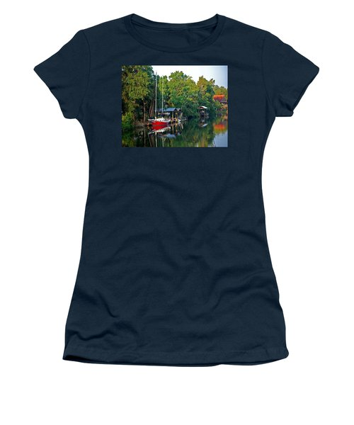 Magnolia Red Boat Women's T-Shirt