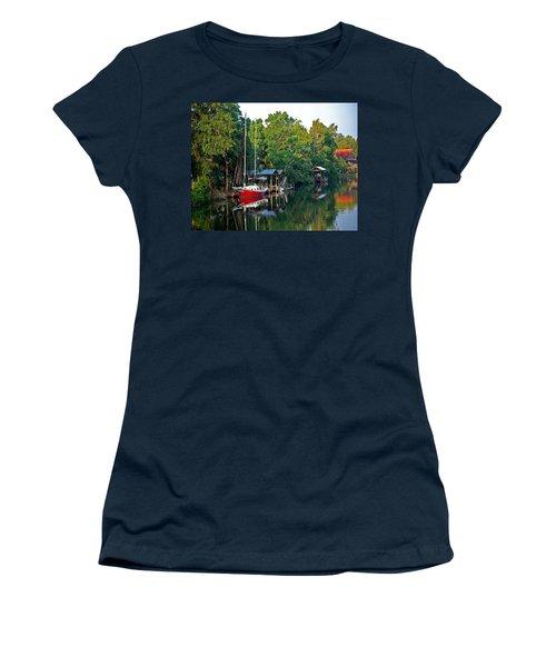 Magnolia Red Boat Women's T-Shirt