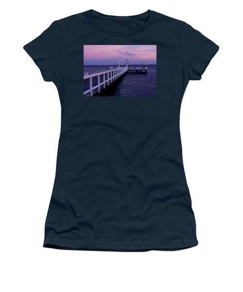 Manns Beach Jetty Women's T-Shirt (Athletic Fit)