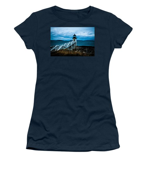 Marshall Point Light At Dusk 2 Women's T-Shirt (Athletic Fit)