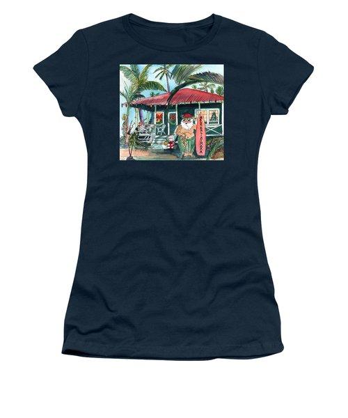 Mele Kalikimaka Hawaiian Santa Women's T-Shirt