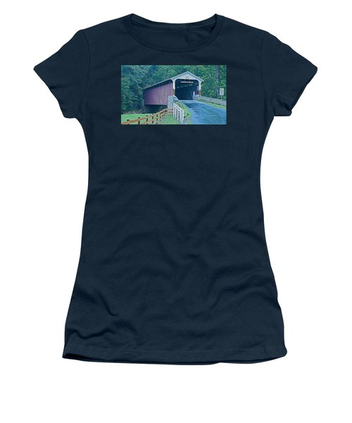 Mercer's Mill Covered Bridge Women's T-Shirt (Athletic Fit)