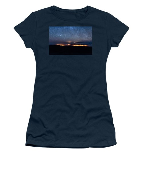 Meteor Over The Big Island Women's T-Shirt