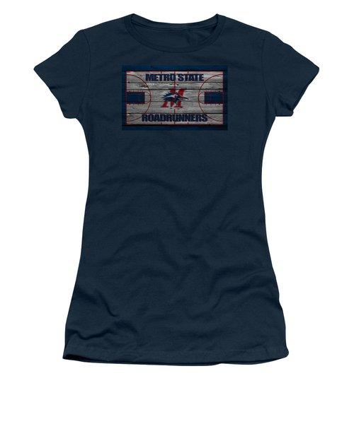 Metropolitan State Roadrunners Women's T-Shirt (Athletic Fit)