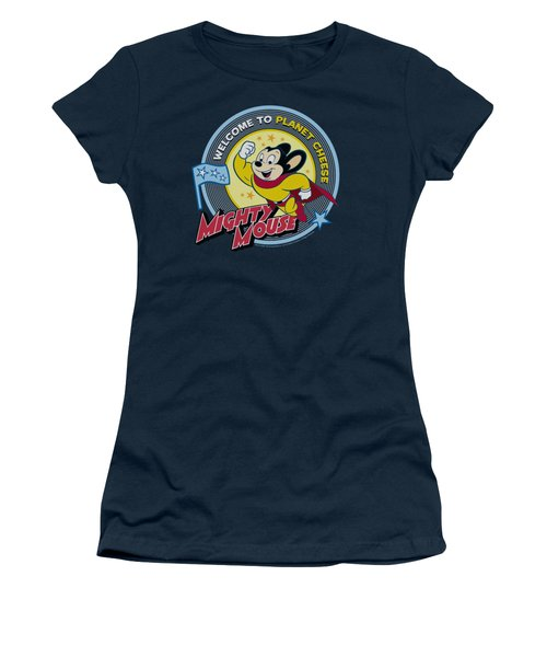 Mighty Mouse - Planet Cheese Women's T-Shirt (Junior Cut) by Brand A