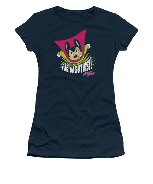 Mighty Mouse - The Mightiest Women's T-Shirt (Junior Cut) by Brand A