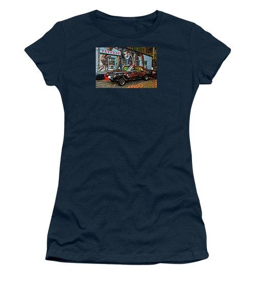 Milltown's Edsel Comet Women's T-Shirt (Junior Cut) by Mike Martin