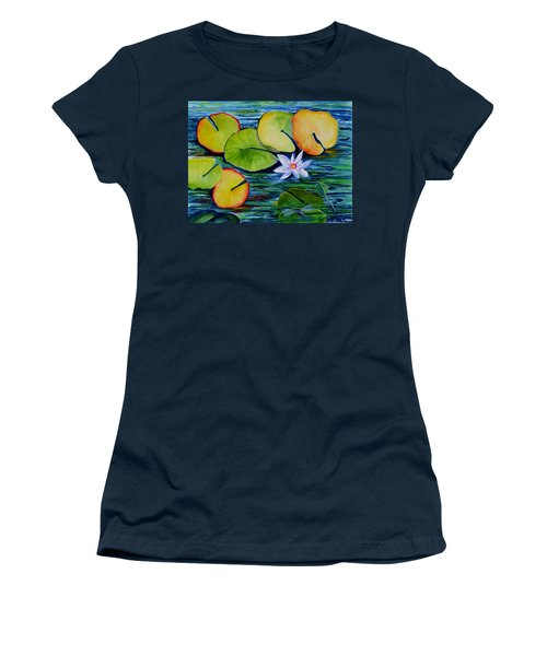 Whimsical Waterlily Women's T-Shirt (Athletic Fit)
