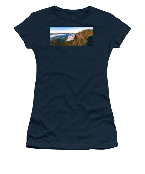 Mist Flow Around The Fortress Koenigstein Women's T-Shirt