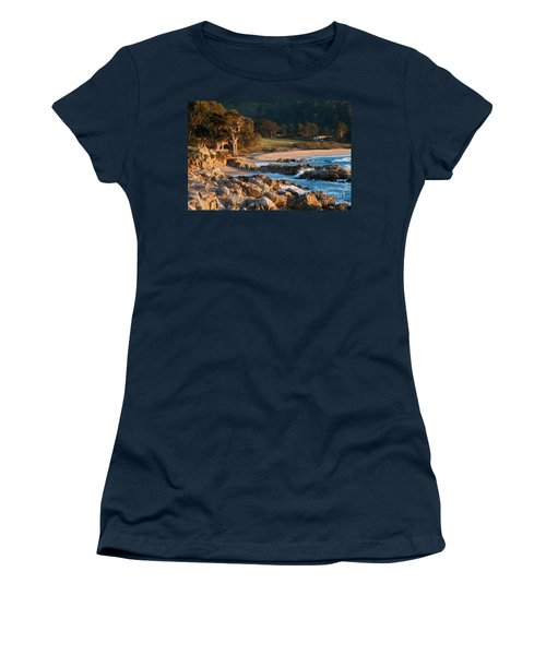 Monastery Beach In Carmel California Women's T-Shirt (Athletic Fit)