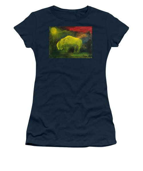 Moonlight Buffalo Women's T-Shirt (Athletic Fit)