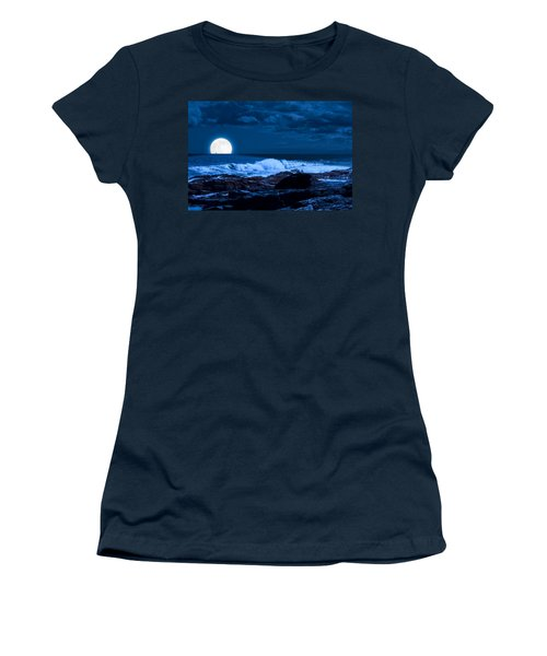 Moonlight Sail Women's T-Shirt (Athletic Fit)