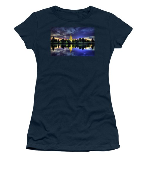 Morning Reflections Of Idaho Falls Temple  Women's T-Shirt