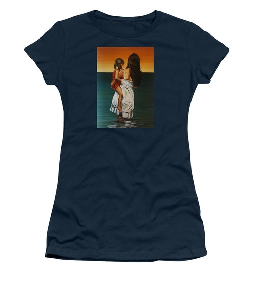Mother And Daughter II Women's T-Shirt (Junior Cut) by Natalia Tejera