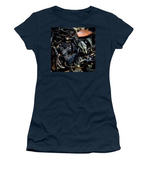 Women's T-Shirt (Junior Cut) featuring the photograph Motorbike by Edgar Laureano